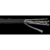 Кабель внешний ITK FTP 4x2x0,51 ПЕ с тросом 1,2мм, 305 м